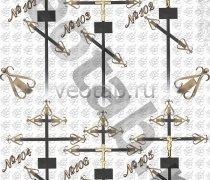 Крест металлический серии #101 (102/103/104/ 105/106)