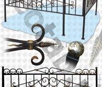 Эксклюзивная Кованная Ограда серии ОК-002