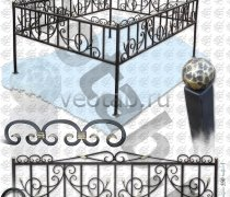 Эксклюзивная Кованная Ограда серии ОК-004