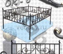 Эксклюзивная Кованная Ограда серии ОК-006