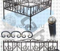 Эксклюзивная Кованная Ограда серии ОК-007
