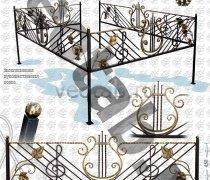 Эксклюзивная Кованная Ограда серии ОК-008