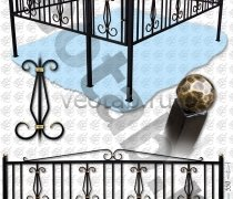 Эксклюзивная Кованная Ограда серии ОК-012