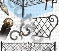 """Эксклюзивная Кованная Ограда серии ОК-014 """"Сетка плетённая"""""""
