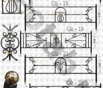 Эксклюзивная Кованная Ограда серии ОК-017, 18, 19 ,20, 21, 22
