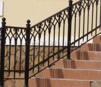 Перила арт.0009 ограждение лестничное/балконное кованое