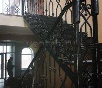 Перила арт.0078 ограждение лестничное/балконное кованое