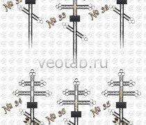 Крест металлический серии #031 (№31-36)