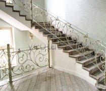 Перила арт.0001 ограждение лестничное/балконное кованое