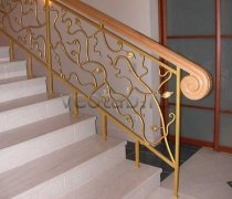 Перила арт.0007 ограждение лестничное/балконное кованое