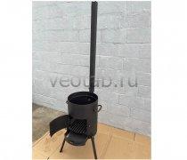 Купить печь #0816-2мм. под казан 6,8л. с трубой и дверцей, с выдвижным зольником