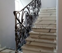 Перила арт.0080 ограждение лестничное/балконное кованое
