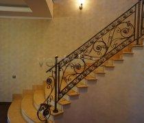 Перила арт.0005 ограждение лестничное/балконное кованое