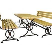 Садовая скамейка #0002