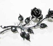 Кованые подарки #016 роза кованая 2шт.