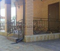 Перила арт.0006 ограждение лестничное/балконное кованое