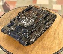 Кованый подарок #058 ( кованный танк Т-34-76, мини-бар)