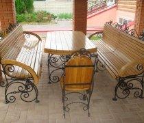Кованая мебель для дачи #0056