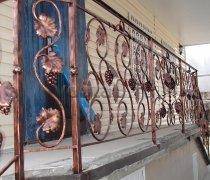 Перила арт.0017 ограждение лестничное/балконное кованое