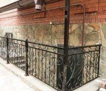Перила арт.0067 ограждение лестничное/балконное кованое