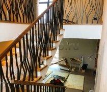Перила арт.0068 ограждение лестничное/балконное кованое