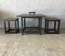 Лофт мебель #00006 (стол журнальный и два табурета)