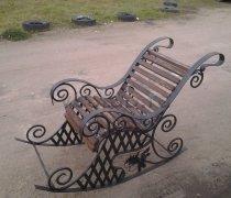 Кованые кресла-качалки #2