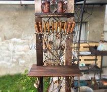 Купить мангал #9004 (мангальный комплекс, держатель для шампуров, Полка, стол)