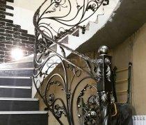 Перила арт.0075 ограждение лестничное/балконное кованое