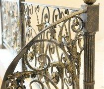 Перила арт.0076 ограждение лестничное/балконное кованое
