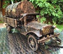 Кованый подарок #005 (минибар/виница в виде авто полуторка с бочкой)