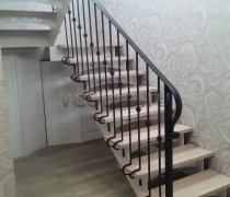 Перила арт.0054 ограждение лестничное/балконное кованое