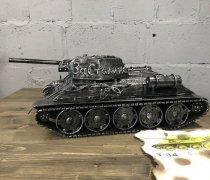 Кованый подарок #074 ( кованный танк Т-34 - шкатулка/мини-бар)