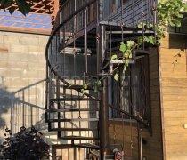 Перила, ограждения кованые #064 (Винтовая лестница)