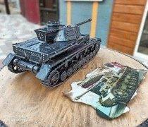 "Кованый подарок #086 ( кованный танк «T‑IV» - шкатулка/мини-бар)  ""Panzerkampfwagen IV (PzKpfw IV, также Pz. IV"""