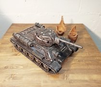 """Кованый подарок #095 (""""кованный танк Т-34 - шкатулка/мини-бар"""" - """"Нет Войне"""")"""