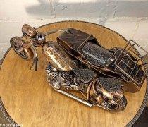 """Кованый подарок #101 """"Мотоцикл с люлькой"""""""