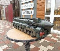 """Кованый подарок #115 """"Тополь-М"""" (шкатулка/мини-бар) с патиной в зелёный"""