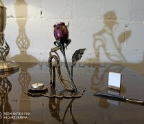 Кованый подарок #125 Роза с туфелькой кованный