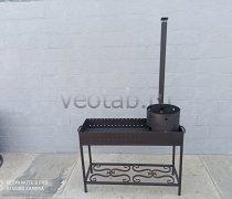 Купить мангал #0151 с печкой под 12 литров/казан и трубой