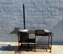 Купить мангал #0201-32 с печкой под 12 литров/казан и трубой