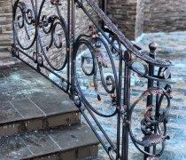 Перила арт.0024 ограждение лестничное/балконное кованое