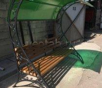 Садовая скамейка #00130 с навесом
