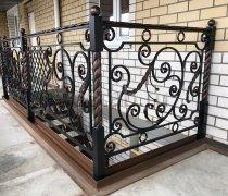 Перила арт.0023 ограждение лестничное/балконное кованое