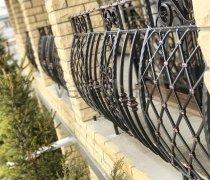 Перила арт.0018 ограждение лестничное/балконное кованое