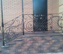 Перила арт.0082 ограждение лестничное/балконное кованое