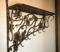 Кованая мебель  #0002 (полка с вешалками)