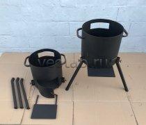 Купить печь #0804-3мм. под казан 8л. с дверцей, со съемными ногами и полкой