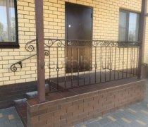 Перила арт.0083 ограждение лестничное/балконное кованое