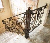 Перила арт.0025 ограждение лестничное/балконное кованое